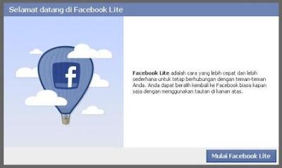 Facebook Lite - Lebih Ringan, Cepat dan Sederhana