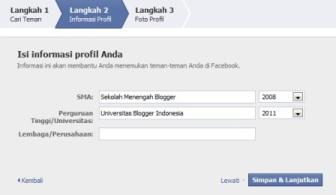 Langkah ke-2 cara mendaftar di FB (Facebook)