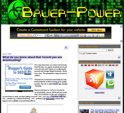 Bauer-Power is a DoFollow Blog