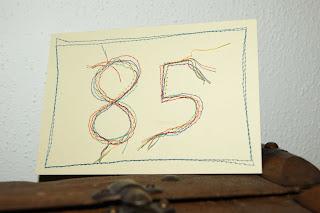 genähte Geburtstagskarte