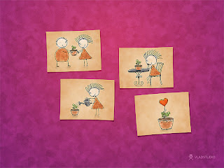 Image poésie fête des mère: carte coeur et cadeau