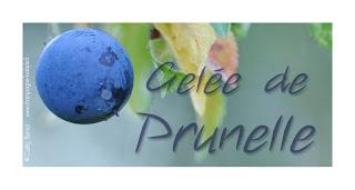 gelée de prunelle: étiquette à imprimer