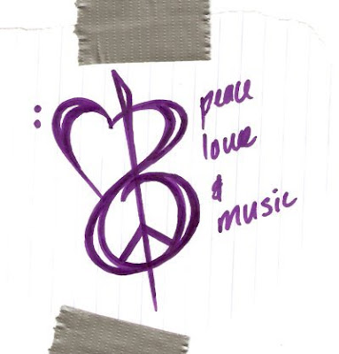 amor y paz. Music, Love, and Peace Tattoo
