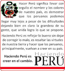 """¿Qué es """"Haciendo Perú""""?"""