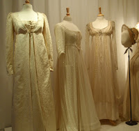 Romancing history tea and corsets at a costume museum for Regency style wedding dress