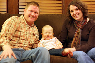 Russ Goering with his wife and son