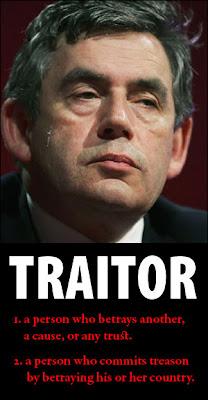 Gordon Brown: traitor