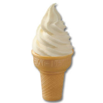 FOOD FUNDA: Vanilla Reduced Fat Ice Cream Cone