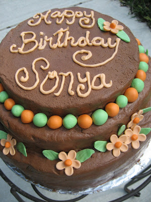 happy birthday sonya cake