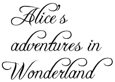 FMP: Alice In Wonderland - Book Cover Design - Typography