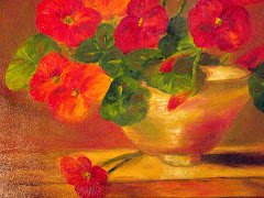 Nasturtiums and Vase