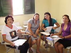 coordenadoras e tecnicas pedagogicas da capacitacao do peteca em Oros