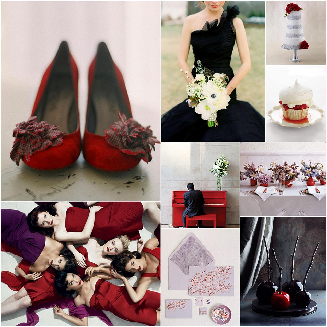 Dark Purple And Red Wedding Flowers Viewing Gallery