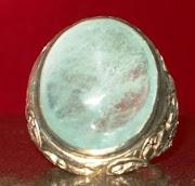 batu aquamarine ikatan perak