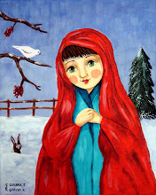 Village Girl in the snow