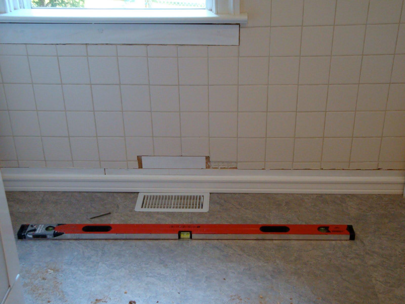 Beadboard over tile in bathroom - Kitchen Backsplash Tiles Now Beadboard