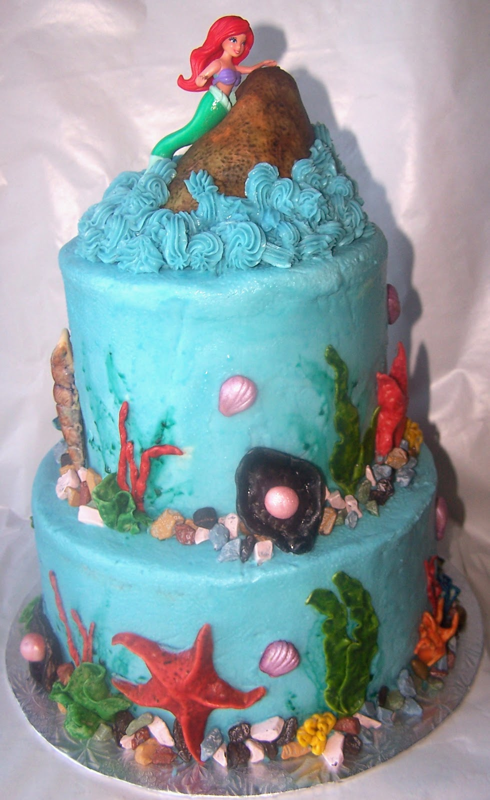 Truly scrumptious desserts by joanne character and for Ariel cake decoration
