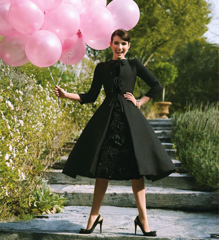Dolly rocker girl dress like a cupcake should feel channeling audrey hepburn in funny face is a near impossible task but when paired with a handful of pink balloons its easy to get in the mood to strike a mightylinksfo