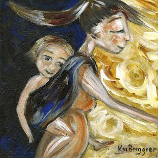 Pieces Of Me - motherhood painting by Katie m. Berggren