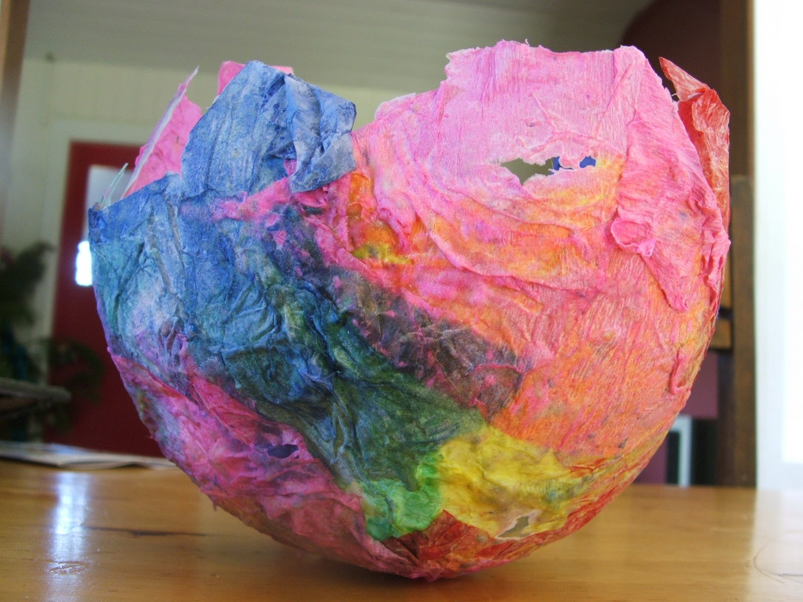 Rainbow love farm papier mache lanterns for Papier mache lanterns