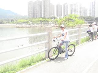 naek sepeda kliling Hongkong