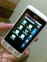 LG KP500 cookie touch screen
