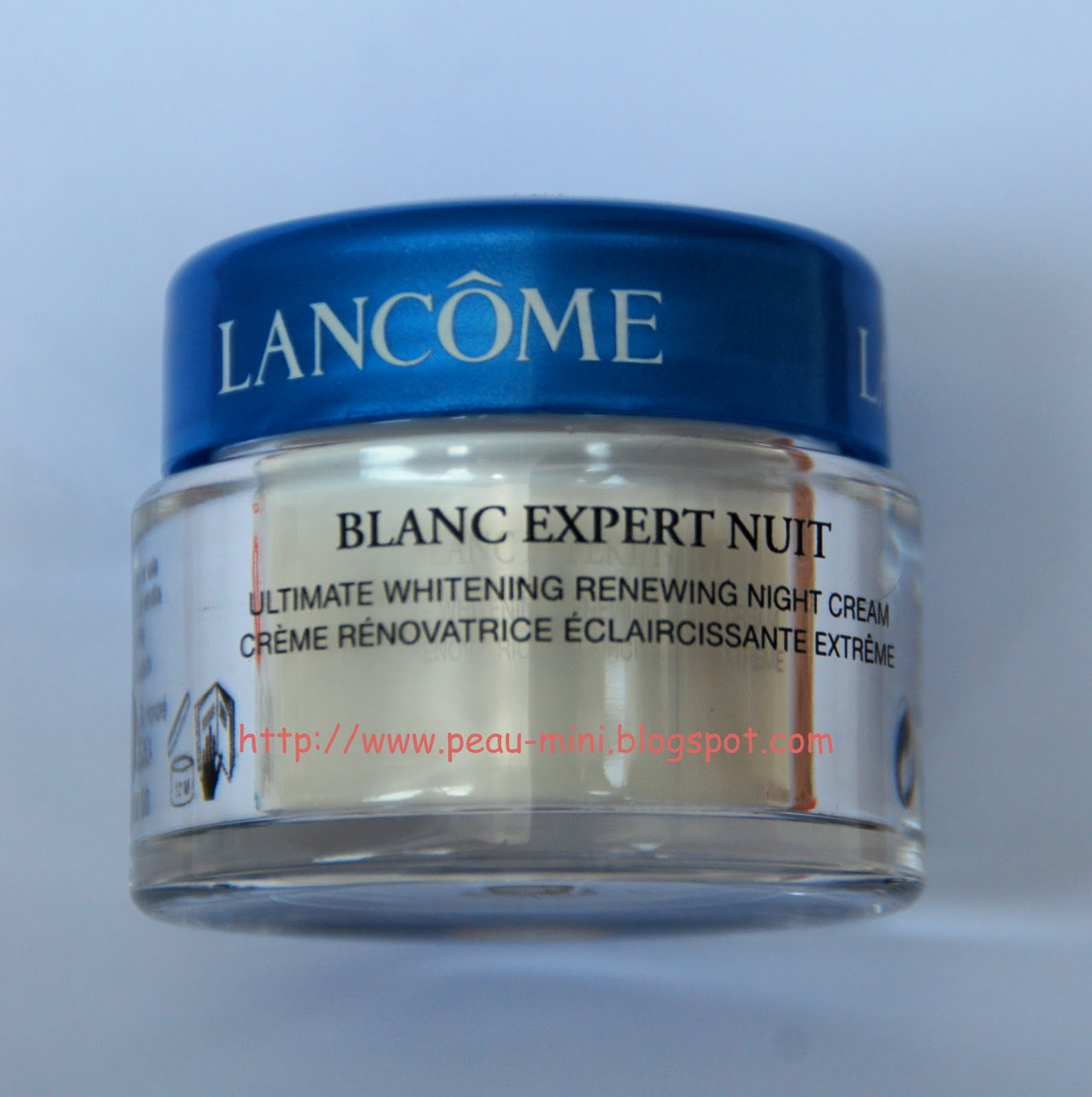 Peau Mini Skincare In Travel Size March 2010 Lancome Blanc Expert Ultimate Whitening Purifying Foam 30ml Nuit Renewing Night Cream