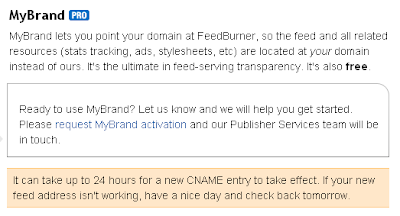 FeedBurner MyBrand