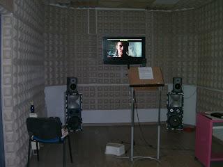 Estudio de doblaje en el que se hizo la entrevista de El mundo secreto de las voces en imágenes
