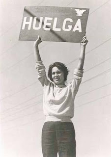 Picture of Dolores Huerta on Strike.