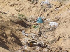 Lixo na praia do Pontal