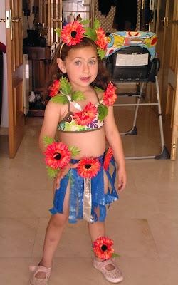 Disfraz casero, hawaiana