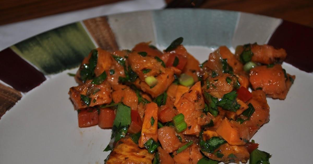 ... Favorite Recipes: Grilled Sweet Potato Salad with Basil Vinaigrette