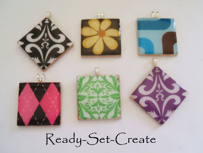 crafty jewelry: pendants necklace tutorial