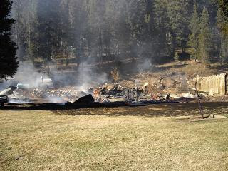 Big Creek Lodge after fire