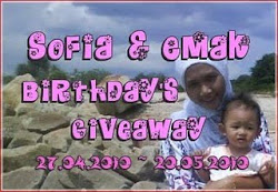 Sofea dan Emak Birthdays Giveaway