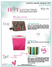 Thirty One Gifts . with Amy: July Customer Special
