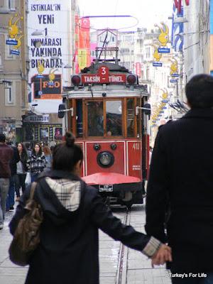 The Taksim-Tünel Tram on Istiklal in Istanbul
