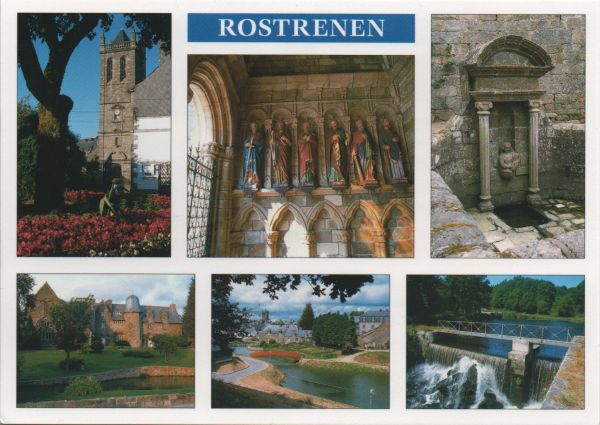 multi-view postcard of Rostrenen