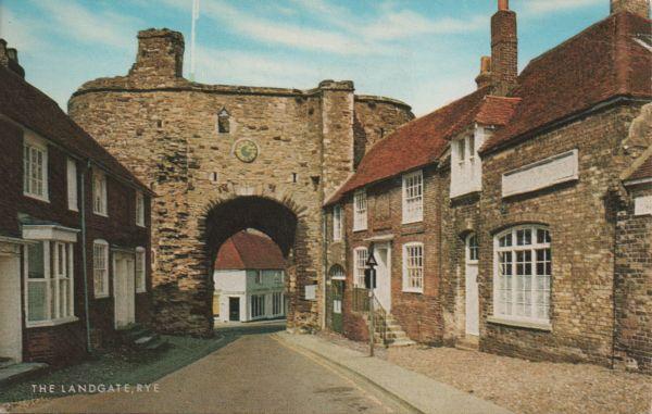Postcard of the Landgate in Rye, East Sussex