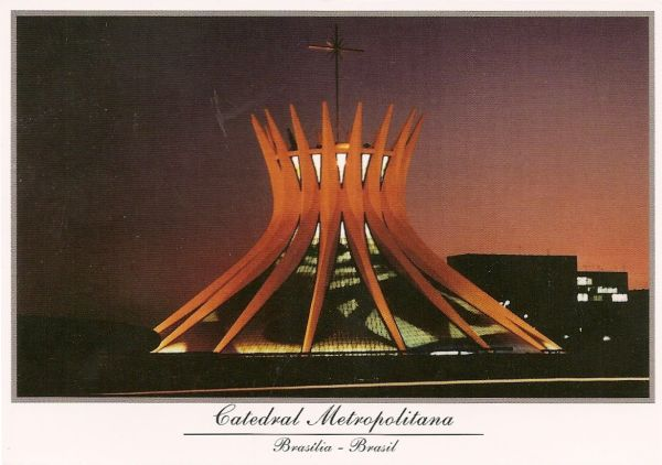 Cathedral of Brasilia, Basilica of Our Lady Aparecida by Oscar Niemeyer