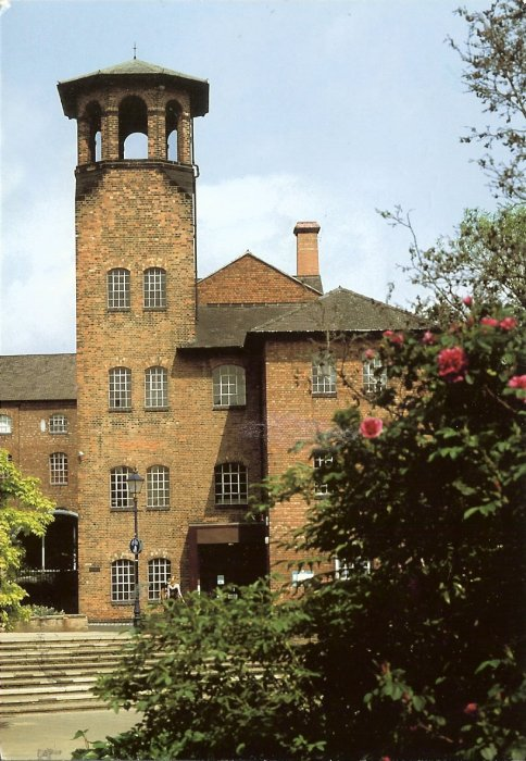 three storey brick built mill with tower