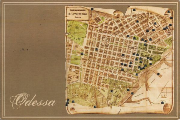 old map of Odessa
