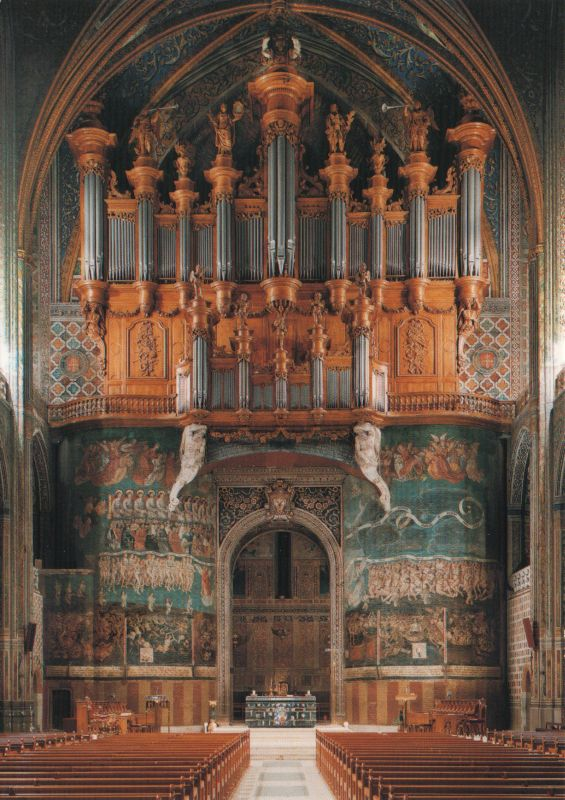 organ in Albi cathedral, and the Last Judgement