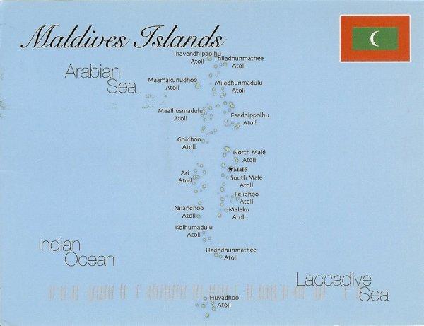 map of Maldive Islands