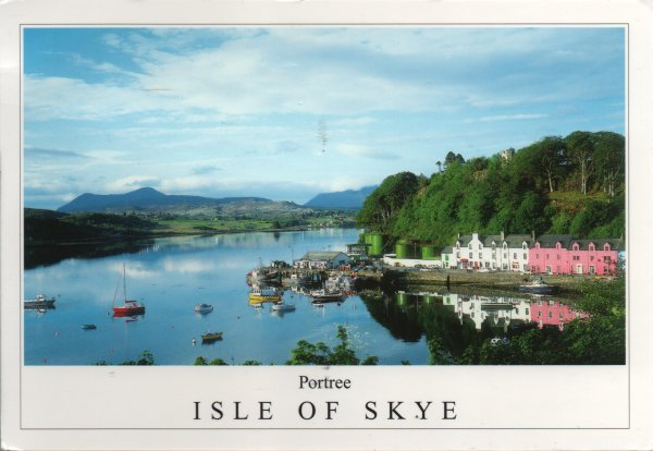 colourful view of Portree