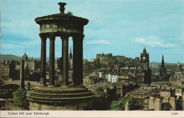 view of Ednburgh from Calton Hill