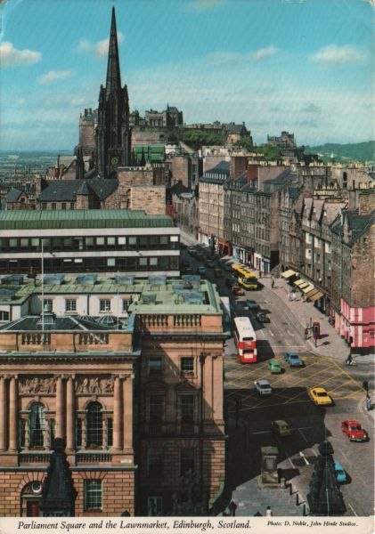 view of Lawnmarket from St Giles cathedral