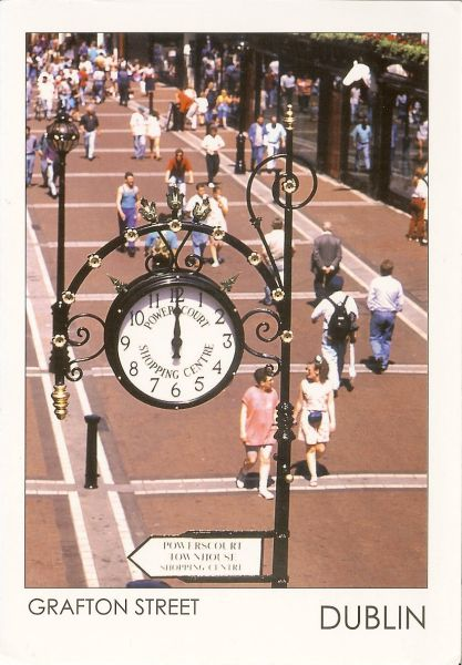 Clock over Grafton Street shopping centre