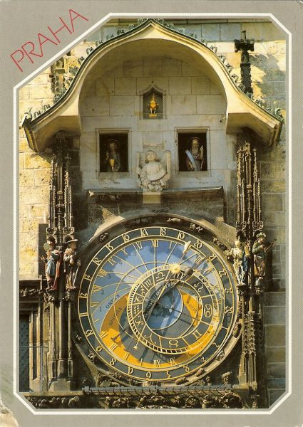 astronomical clock and figures above